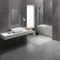 dark grey stone tile