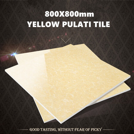 yellow polished tile