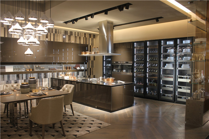 Chinese particle kitchen cabinet