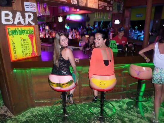 creative funny bikini stools