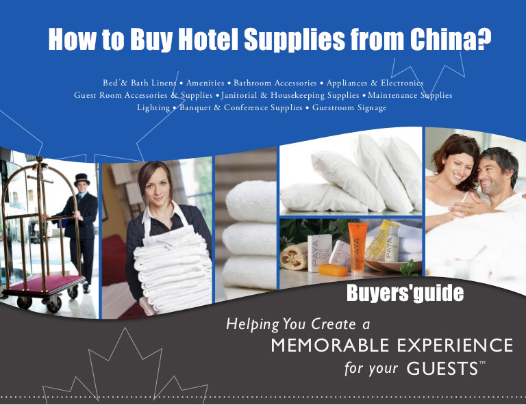 How to Buy Hotel Supplies from China?