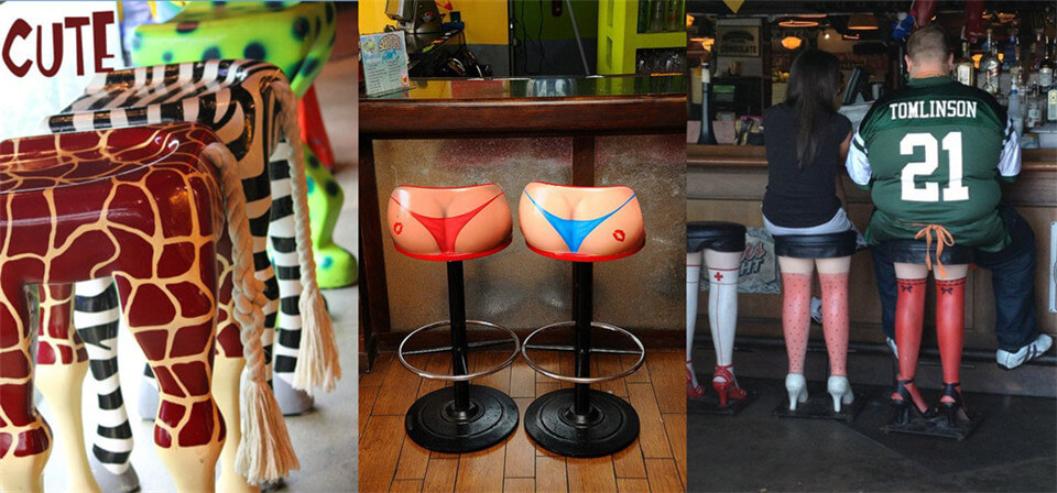 Chinese bikini bar stool chair